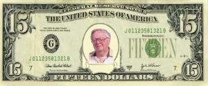 $15 bill