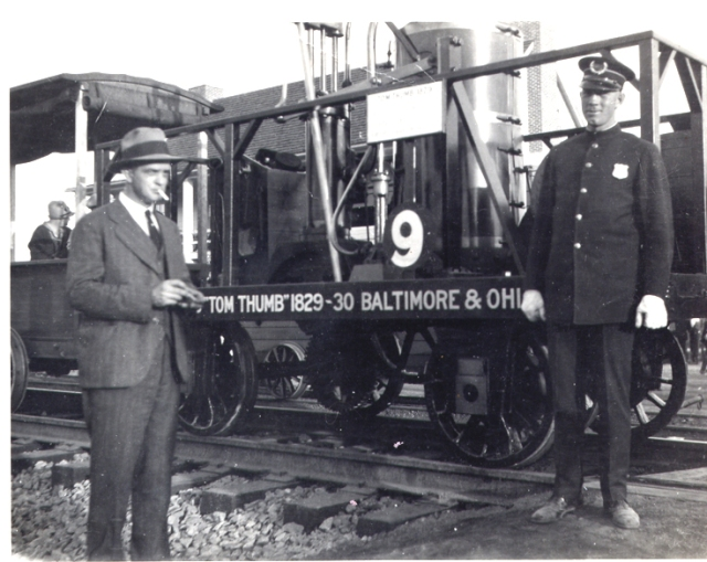 My Grandfather Emil A Forbriger with Tom Thumb Locomotive